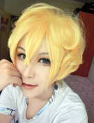 Weeck Anime Yellow Party Wig Karneval Cosplay Costume Party Wig