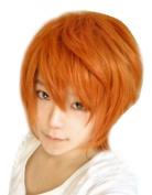 Weeck Short Orange Costume Party Cosplay Wig