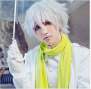 Weeck Short Silver White Dance Men Party Cosplay Wig