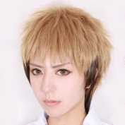 Weeck Anime Short Attack on Titan Mixed Brown Jean Kirstein Cosplay Wig