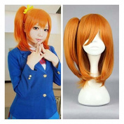 Weeck Anime Orange Love Live Honoka Kosaka Pigtail Girls Cosplay Wig