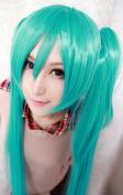 Weeck Anime Long Hatsune Green Vocaloid Miku Pigtail Girls Cosplay Wig