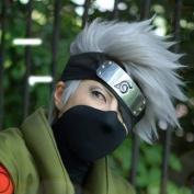 Weeck Short Silver White Hatake Kakashi Anime Cosplay Wig + Headband