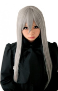 Weeck Anime Long Straight Party Silver Girls Cosplay Wig
