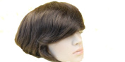 Human Hair Toupee 18cm x 23cm Thin Skin Full Pu Toupee Men Hair Piece System