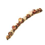 Great Deal(TM) Women Crystal Rhinestone Barrette Hair Clip Hair Accessory Purple
