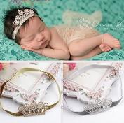 XICHEN®Baby Girls Crown Headband Newborn Princess Head Band Headdress Elastic Hair Band