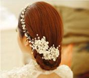 Wedding Combs Headband for Vintage Bridal Hair Pearl Headbands Headpiece Accessory Clip Head Pieces Pins