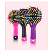 Rainbow Volume Brush Portable Brushes for Women, Fashion Anti-static Massage Balloon Brush with Mirror Grooming Brushes Tools