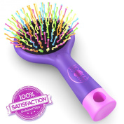 #1 Detangling Hair Brush - For Wet Or Dry Hair - Kids & Adults - Purple