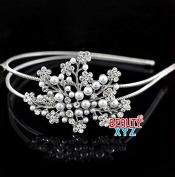 New Fashion beautiful elegant wedding Maple bridal headband pearl and crystal beautyxyz USA seller
