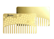 Personalised Go-Comb + Mirror - Brass Hair Comb - Fit For Your Wallet