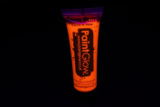 PaintGlow 10ml/.34oz Blacklight Reactive Face and Body Paint- Neon Orange
