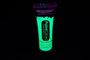 PaintGlow 10ml/.34oz Blacklight Reactive Face and Body Paint- Neon Yellow