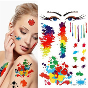 YARUIE 11 Paterns 2015 New Fashion Colourful Waterproof Body Painting Tattoos 9#