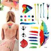 YARUIE 11 Paterns 2015 New Fashion Colourful Waterproof Body Painting Tattoos 2#