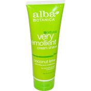 Alba Very Emollient Cream Shave, Coconut Lime, 240ml