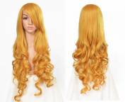 Besgo 31 Inch 80cm Top Silk Sexy Lady Cosplay Wave Hair Wig with Wig Cap