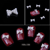 Catalina Professional Production 3D Alloy Bow Tie Nail Art Glitter Rhinestone DIY Decoration