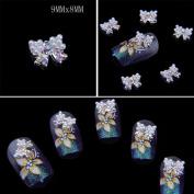 Catalina Professional Production 3D Alloy Bow Tie Nail Art Glitter Rhinestone DIY Decoration