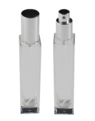 GETI BEAUTY Empty Refillable Perfume Glass Bottle with Atomizer Silver Lid 1-2/3 oz/50ml