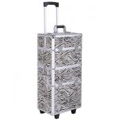 Giantex 3 In1 Pro Aluminium Rolling Makeup Cosmetic Train Case Wheeled Box