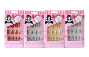 Stella 4 Packs Nail Art Nail Decoration Press on Nails Pre Gluded Pre Designed