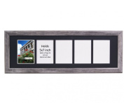 CreativePF 5 Opening Driftwood Picture Frame with Glass to hold 13cm by 18cm Photographs including 25cm x 80cm Black Mat Collage