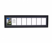 CreativePF - 8- 13cm by 18cm Opening Black Picture Frame with 25cm x 100cm Black Mat Collage including Full Strength Glass, Alphabet Photography