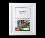 CreativePF 2 Opening Glass Face White Picture Frame to hold 13cm by 18cm Photographs including 25cm x 30cm White Mat Collage
