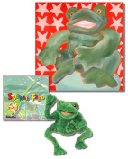 "Fred the Frog - Premium Gift Set, Includes ""Sideways Fred"" Story Book, Folkmanis Puppet, and 46cm X 46cm Canvas Wall Art"