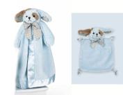 Bearington Baby Waggles Blue Dog Snuggler & Wee Blanket Set