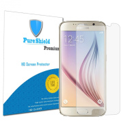 Pure Shield Samsung Galaxy S6, High Defintion Clear Screen Protectors Guard Film-- Maximum Clarity and Touchscreen Accuracy [3-Pack] Lifetime Warranty