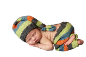 Pinbo Baby Photography Prop Crochet Knitted Striped Hat Pants