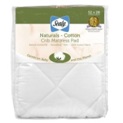 Sealy Naturals Cotton Crib Mattress Pad Cover