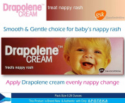 Drapolene Baby Nappy Rash Cream ( Pack Size 50mls) Apply Evenly Nappychange, Paying Particular Attention to the Fold of the Skin, Treatment of Nappy Rash and Nappy Redness and Provide Relief for Minor Burns and Wounds