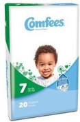 Comfees® Disposable Baby Nappy for Newborn with Tab Closure Size7, Over 19kg BG/20
