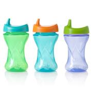 Evenflo Feeding Evenflo Triple-Flo Twist Cups, Blue/Purple/Green