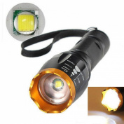 Perfectly Flashlight LED 2500lm Blinding Effect Torch Lamp Body Black