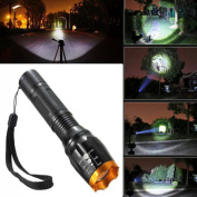 Superbly Flashlight Light Zoomable Super Bright LED 2500lm Body Black