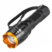 Satisfy Flashlight Aluminium Alloy Super Bright Torch Lamp Body Black