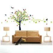 Spring Flowering Tree Birds PVC Wall Sticker Wallpaper 2180
