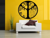 Wall Room Decor Art Vinyl Sticker Mural Decal Clock Brain Tree Big Large AS1110