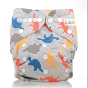 LBB(TM) Baby Resuable Washable Pocket Cloth Nappy With Adjustable Snap,Dinosaur Printed