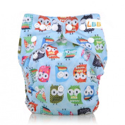 LBB(TM) Baby Resuable Washable Pocket Cloth Nappy With Adjustable Snap,Blue Owl Printed