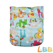LBB(TM) Baby Resuable Washable Pocket Cloth Nappy With Adjustable Snap,Animal Printed