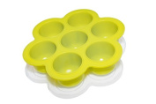 POPFEX Silicone Freezer Tray for Homemade Baby Food and More (Green) - MADE IN USA