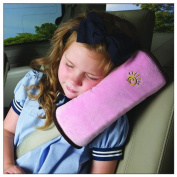 Domire Safety Child car seat belt Strap Soft Shoulder Pad Cover Cushion Pink