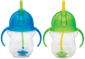 Munchkin Click Lock 210ml Weighted Flexi-Straw Cup, 2 Pack, Blue/Green
