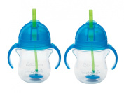 Munchkin Click Lock 210ml Weighted Flexi-Straw Cup, 2 Pack, Blue